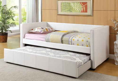 Furniture of America Cadiz White Daybed with Trundle CM1955WH in