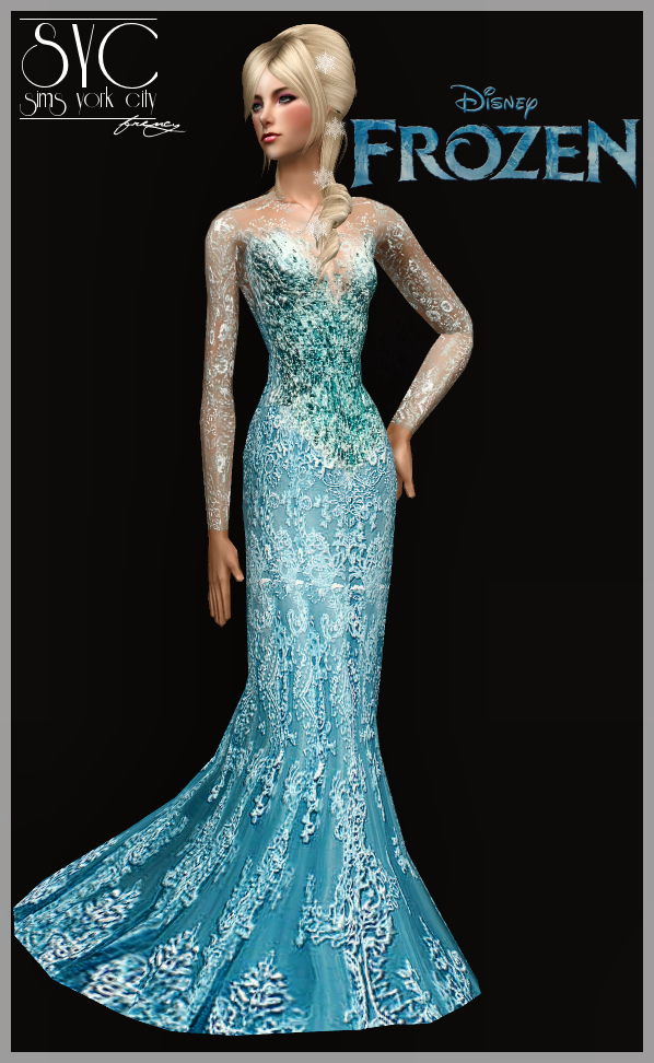 Sims York City Request Elsa Dress For Sparx Light