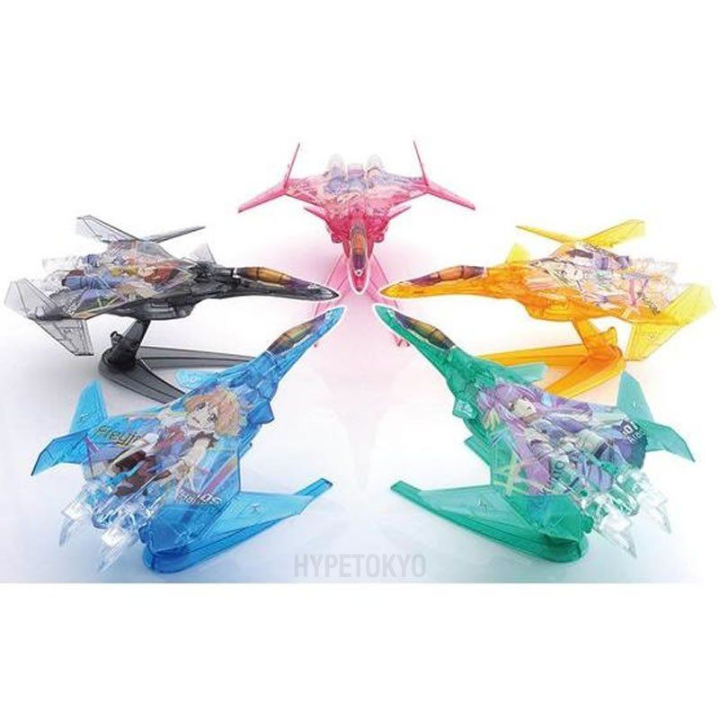 Macross Delta Mecha Collection Plastic Model : Siegfried Fighter mode Delta Squadron Set [Limited Clear Ver.]