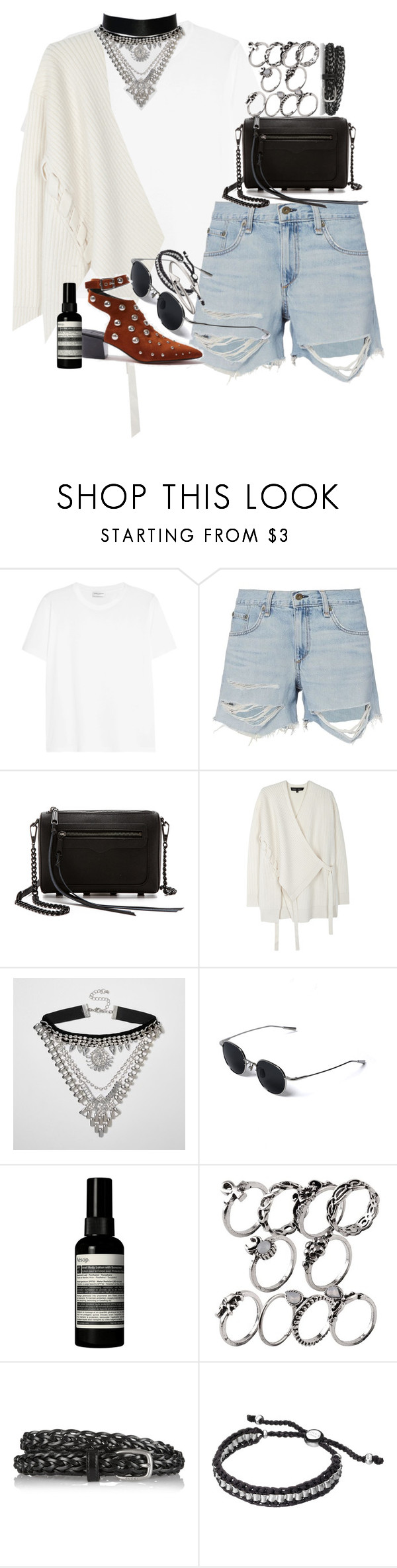"""Unbenannt #1114"" by flytotheunknown ❤ liked on Polyvore featuring Yves Saint Laurent, rag & bone, Rebecca Minkoff, Proenza Schouler, River Island, Aesop, Gucci, Links of London and Jules Smith"