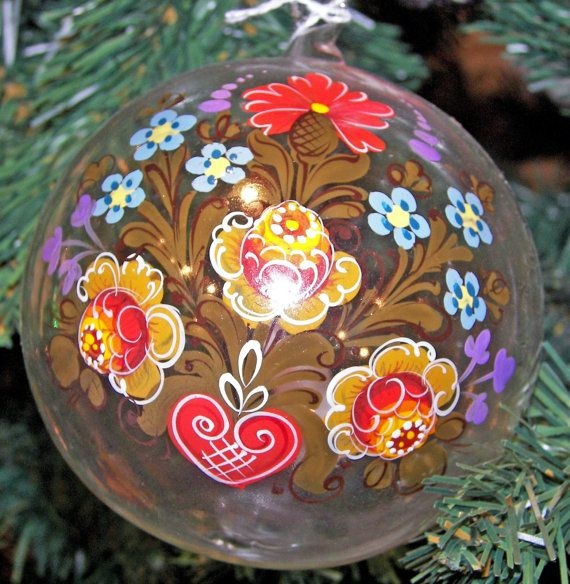 Rosemahl Blown Glass Handpainted Ornaments by TheMerchantOfEurope