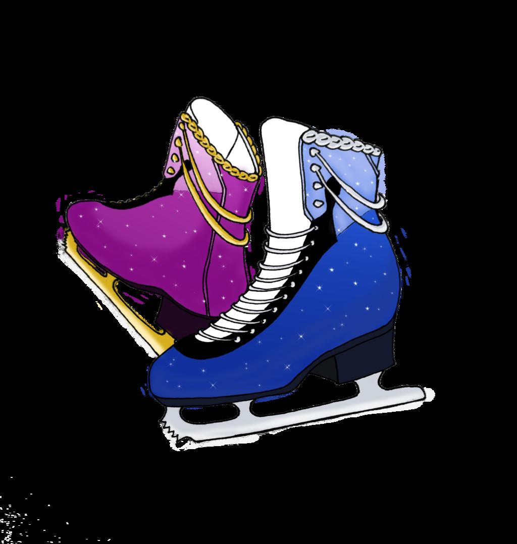 ice skates drawing