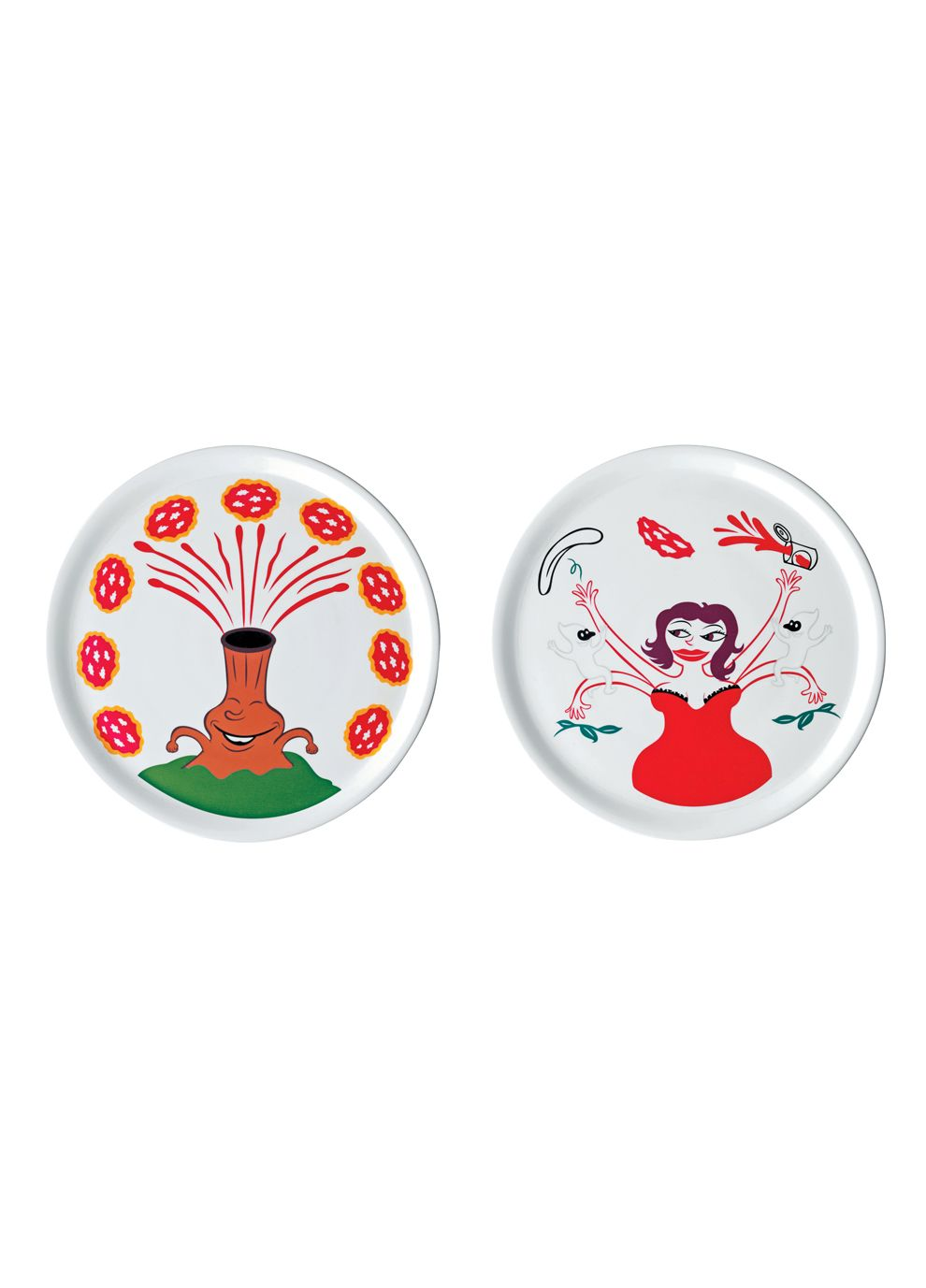 Alessi  Pummaroriella Piatti  Pizza Plate Set By Alessi Products  sc 1 st  Pinterest & Set of 2 Pizza Plates on livingExclusive | Can I have this ...
