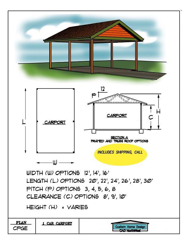 Carport Carport Plans Hip Roof Carport Designs