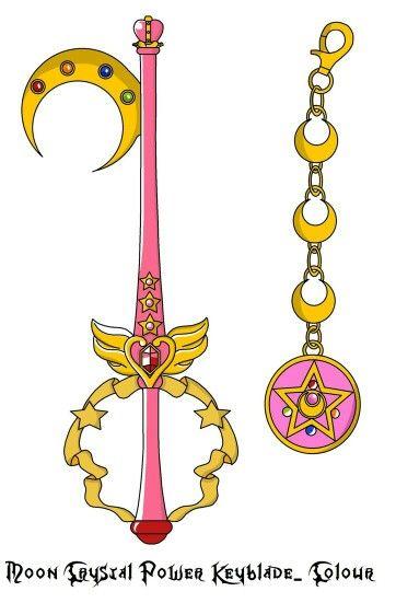 Moon Crystal Power Keyblade | Sailor Moon and Kingdom Hearts ...