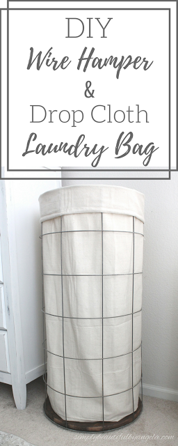 DIY Wire Hamper with Canvas Laundry Bag Laundry hamper