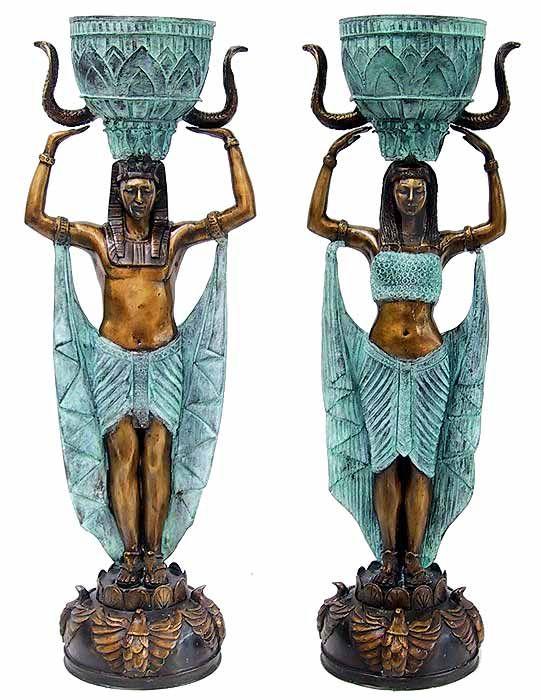 Egyptian Figurative Bronze Sculptures