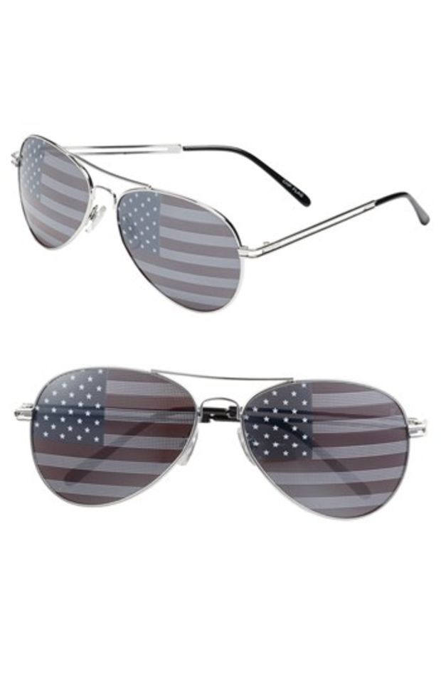 Junior Women S Bp American Flag Aviator Sunglasses Accessories Sunglasses Crazy Shoes