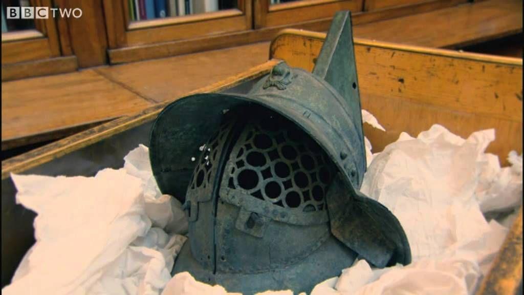 Mary Beard Shows Us a Roman Gladiator's Helmet - Meet the Romans with Ma...