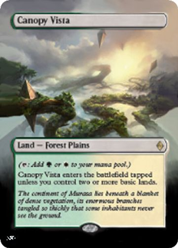 Mtg altered art · canopy & Canopy Vista | Mtg and Mtg altered art