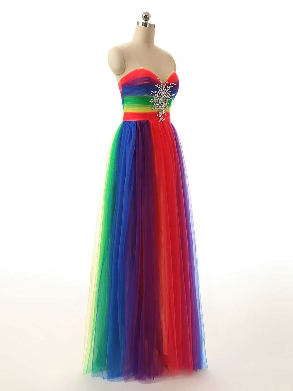 1e70139fe2d JAEDEN colorful Rainbow Evening Dresses Long Prom Gown Sweetheart  Multicoloured colorful US26W    More info could be found at the image  url-affiliate link.