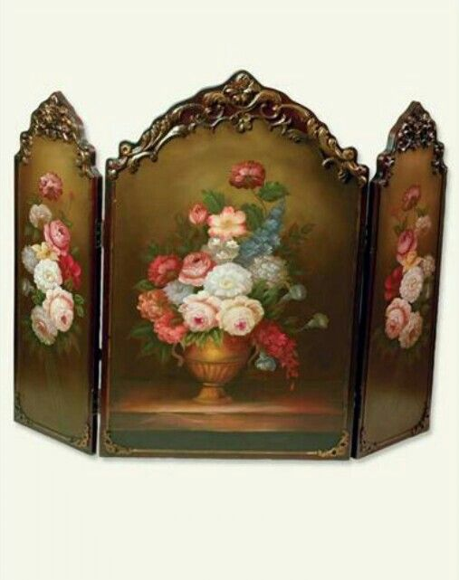 Scarborough Hand Painted Fireplace Screen From Victorian Trading