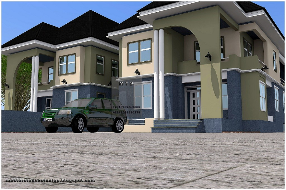 five bedroom duplex plan in nigeria Google Search