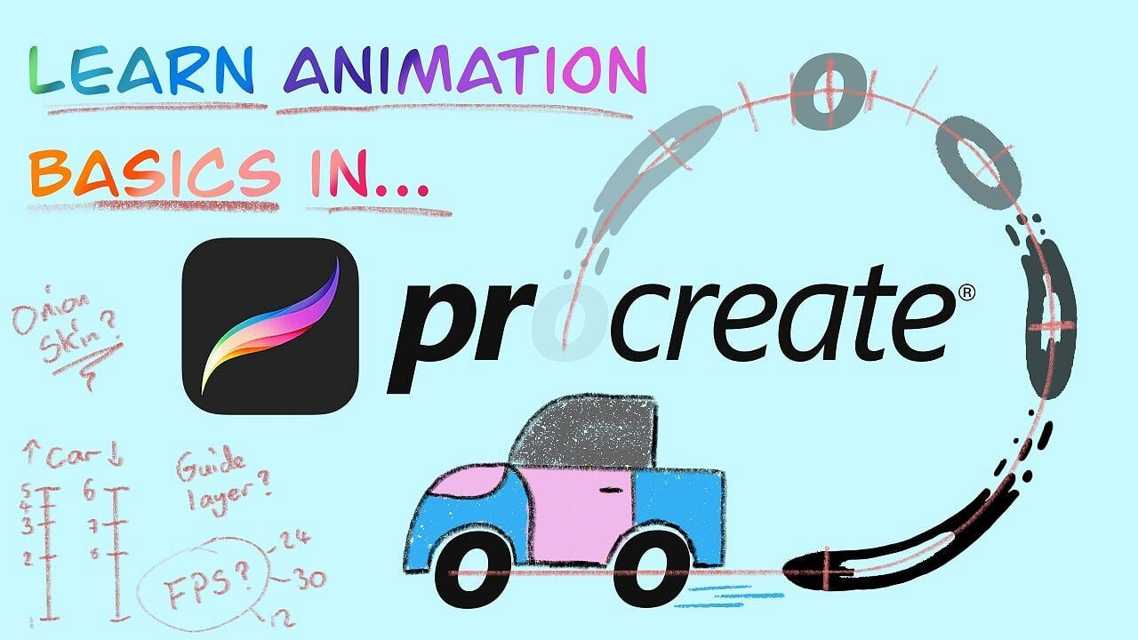 Learn Animation Basics in Procreate Animate a Looping Car