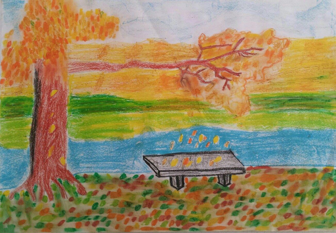 Pastel Boya Sonbahar Resmi Coloring Free To Print