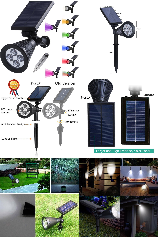 visit to buy solar spotlight lamp waterproof outdoor lighting led solar light garden lawn lamp landscape wall lights