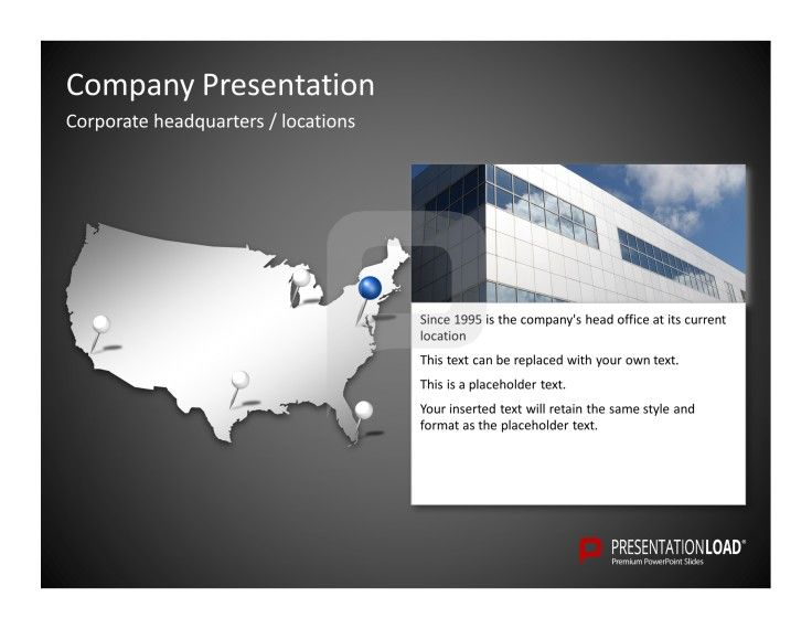 Company presentation powerpoint templates create an overview about company presentation powerpoint templates create an overview about the location of your companys corporate headquarter as well as other company locations toneelgroepblik Gallery