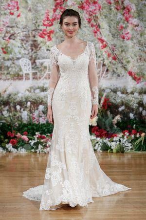 5ac47fb09cb8 Long Sleeve Lace Wedding Dress, Spring 2018 Rebecca Ingram for  @maggiesottero {Dan Leca}
