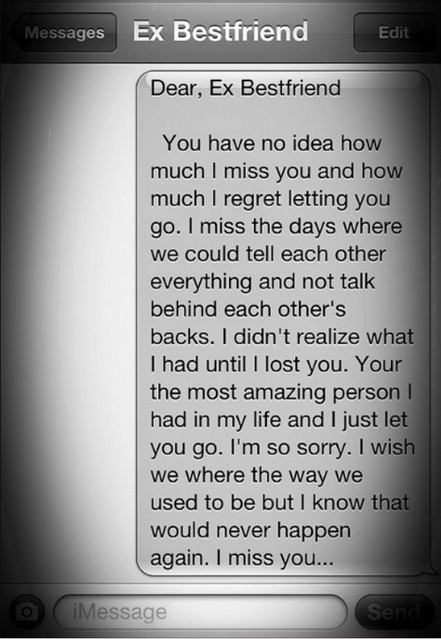 Friend message my best missing 25 I
