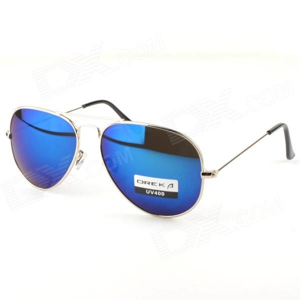 ff0ca82615 Fashion Resin UV 400 Protection Polaroid Lens Sunglasses - Silver + Blue