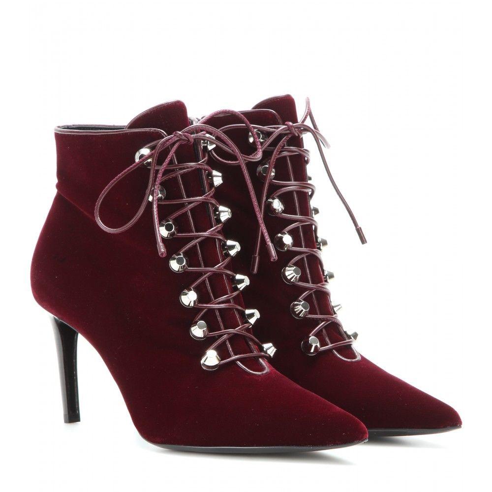 BalenciagaMytheresa Chaussures Lacets ▻ Velvet Bottines 0vm8nNw