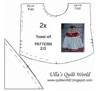 Ulla's Quilt World: Towel elf quilt, pattern