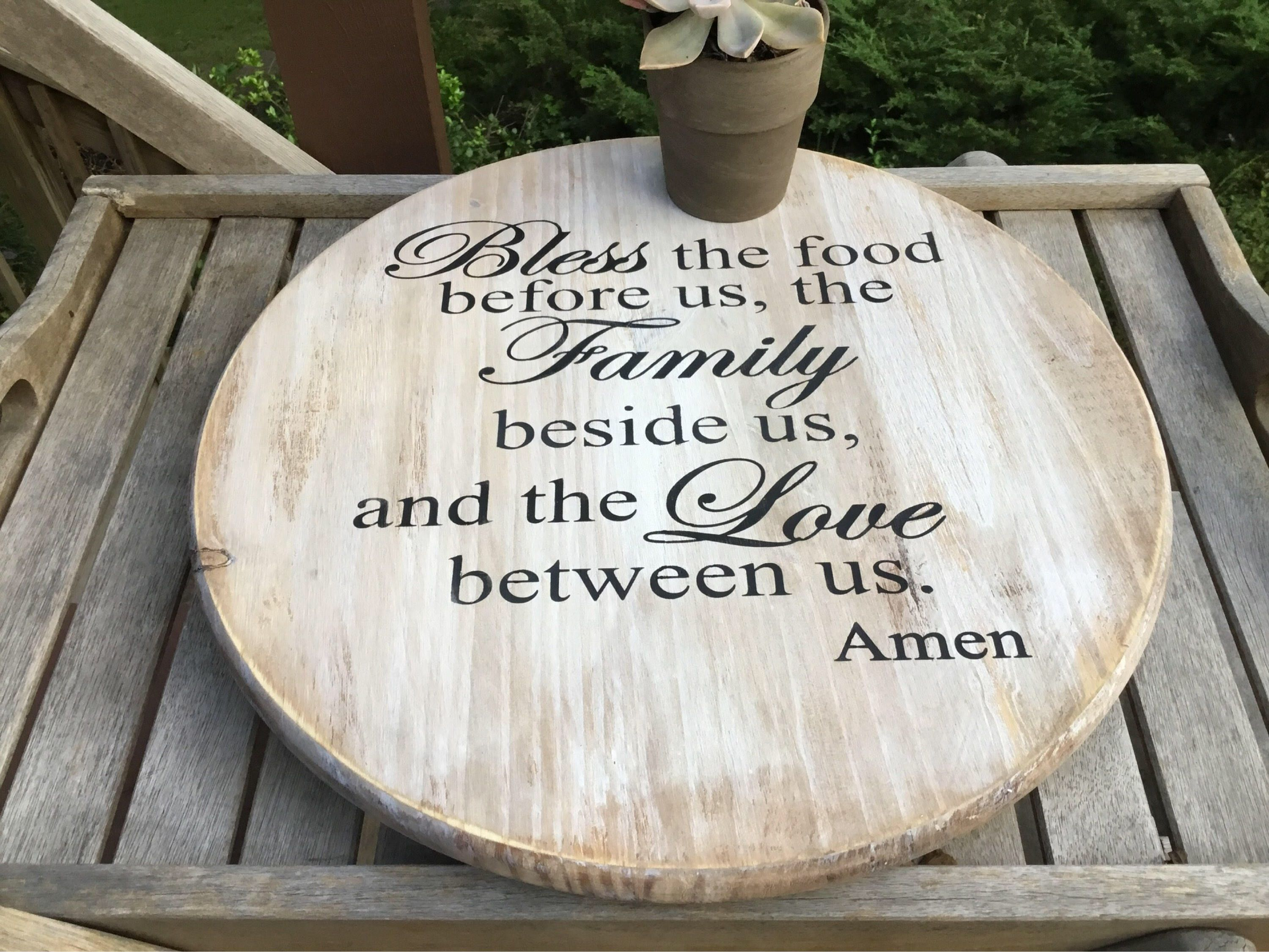 Bless the food custom lazy susan engagement gift wedding