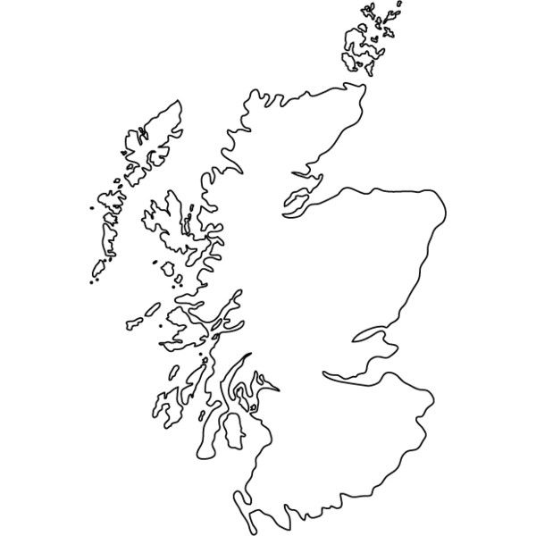 blank map of scotland worksheet Scotland Outline Map Liked On Polyvore Featuring Fillers blank map of scotland worksheet