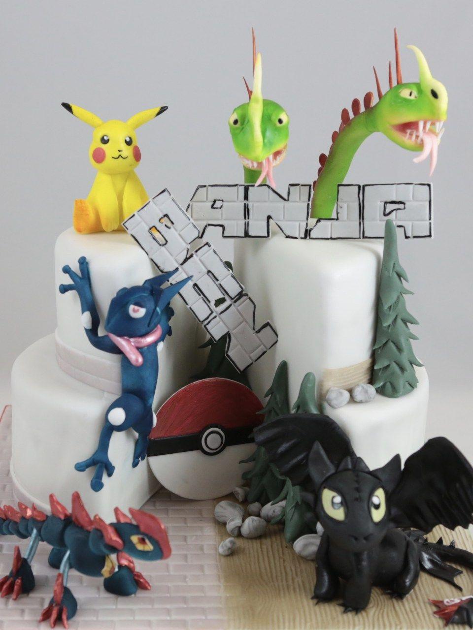 Pokemon Torte Cake Drachenzahmen Leicht Gemacht Dragon Fondant