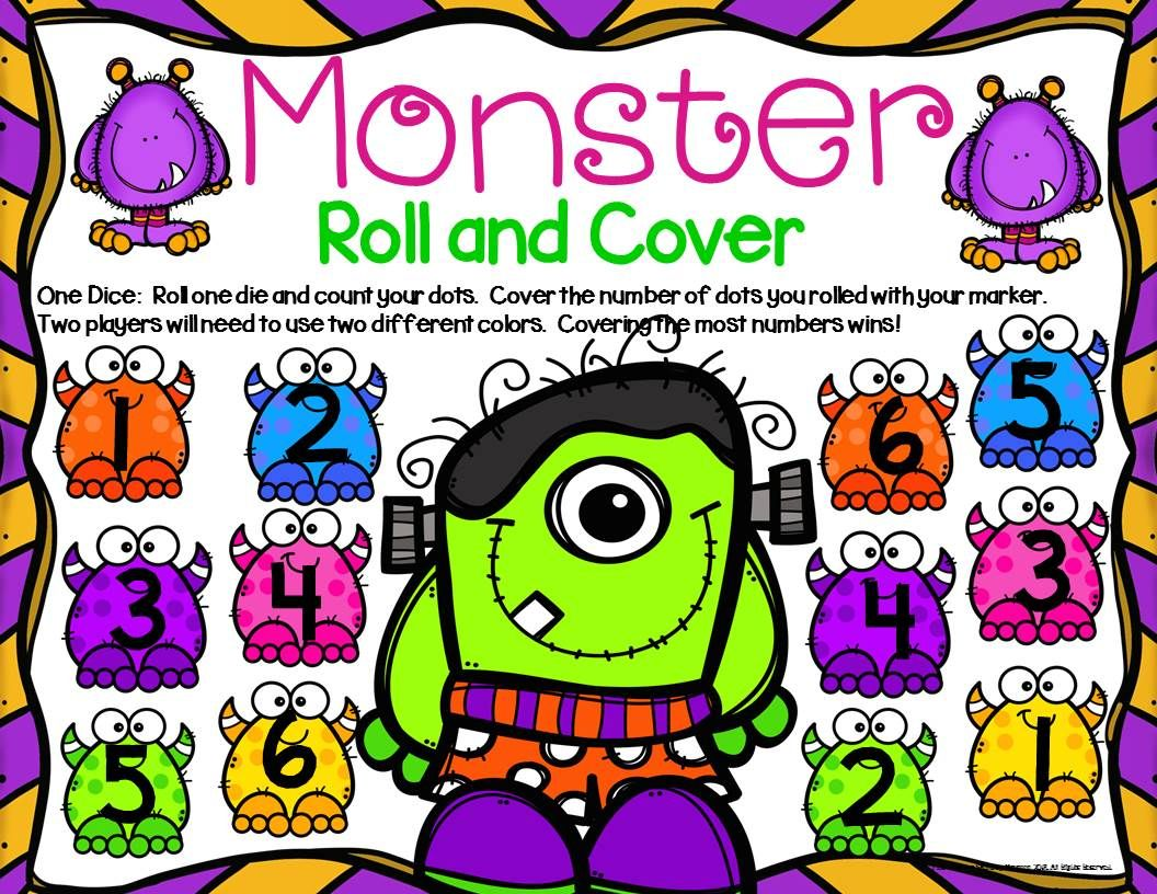 Monsters Math Center Dice Games