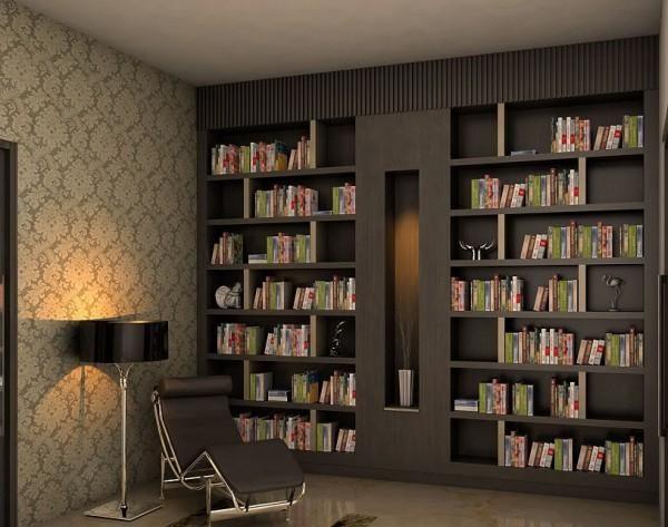 Regalwand Braun Ideen Für Leseecke In Netralen Pastellfarben