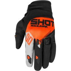 Shot Neon Contact Trust Motocross Handschuhe Grau Orange 3xl