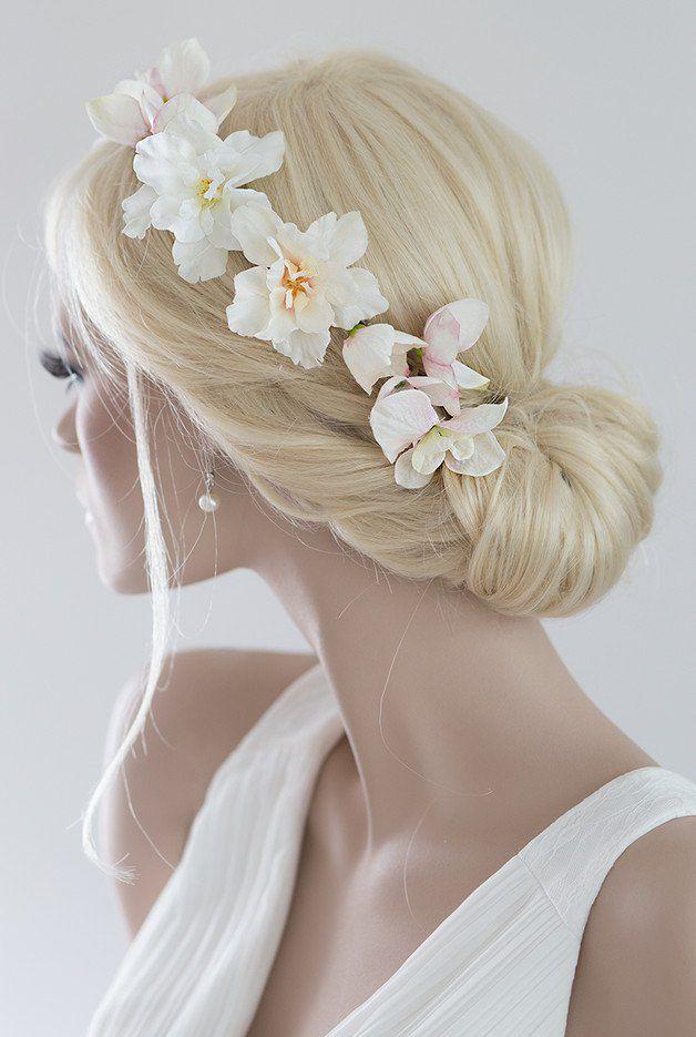 Haarschmuck & Kopfputz - Braut Haarkranz Haarband Blumen Haarschmuck Kranz - ein Designerstück von Princess_Mimi bei DaWanda