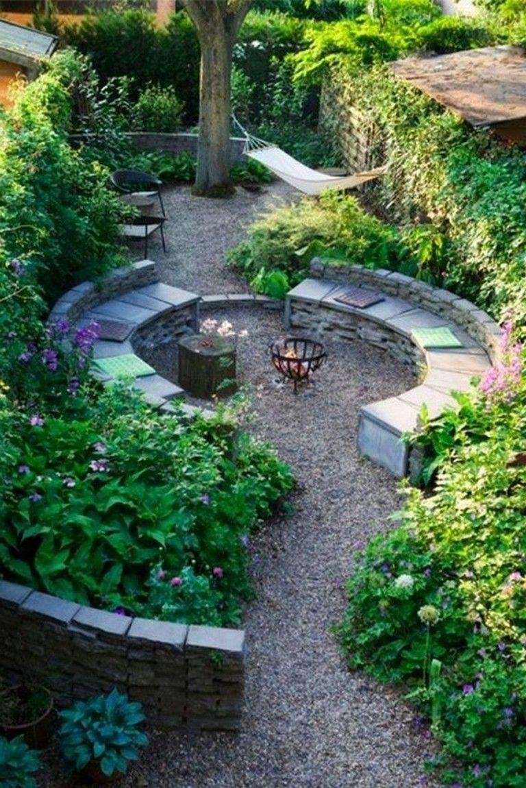 30 Inspirations Love The Blending Of Garden Into Forest Small Garden Design Dutch Gardens Garden Seating Area