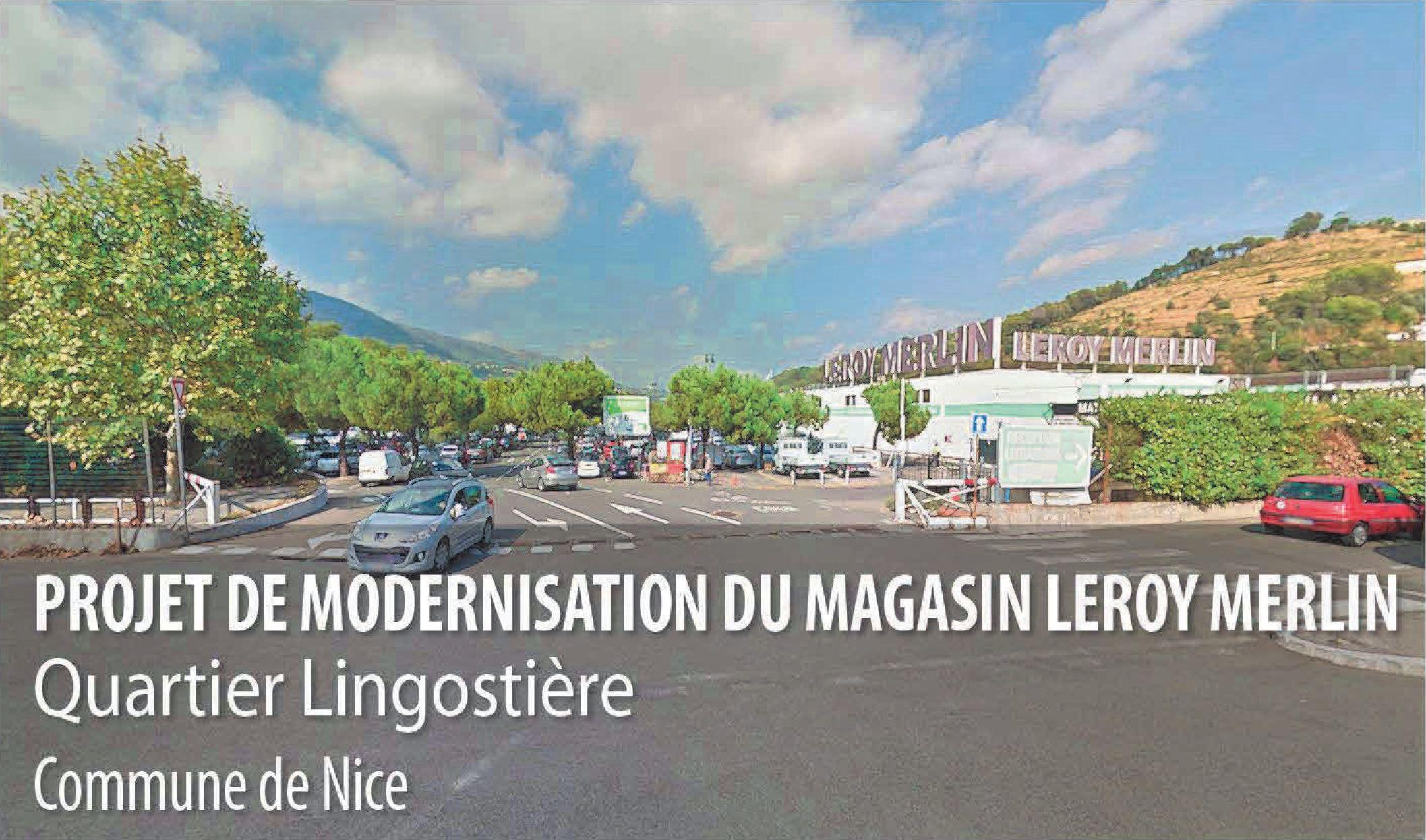 Leroy Merlin -projet de modernisation -Quartier Lingostière, Nice, Alpes-Maritimes 06