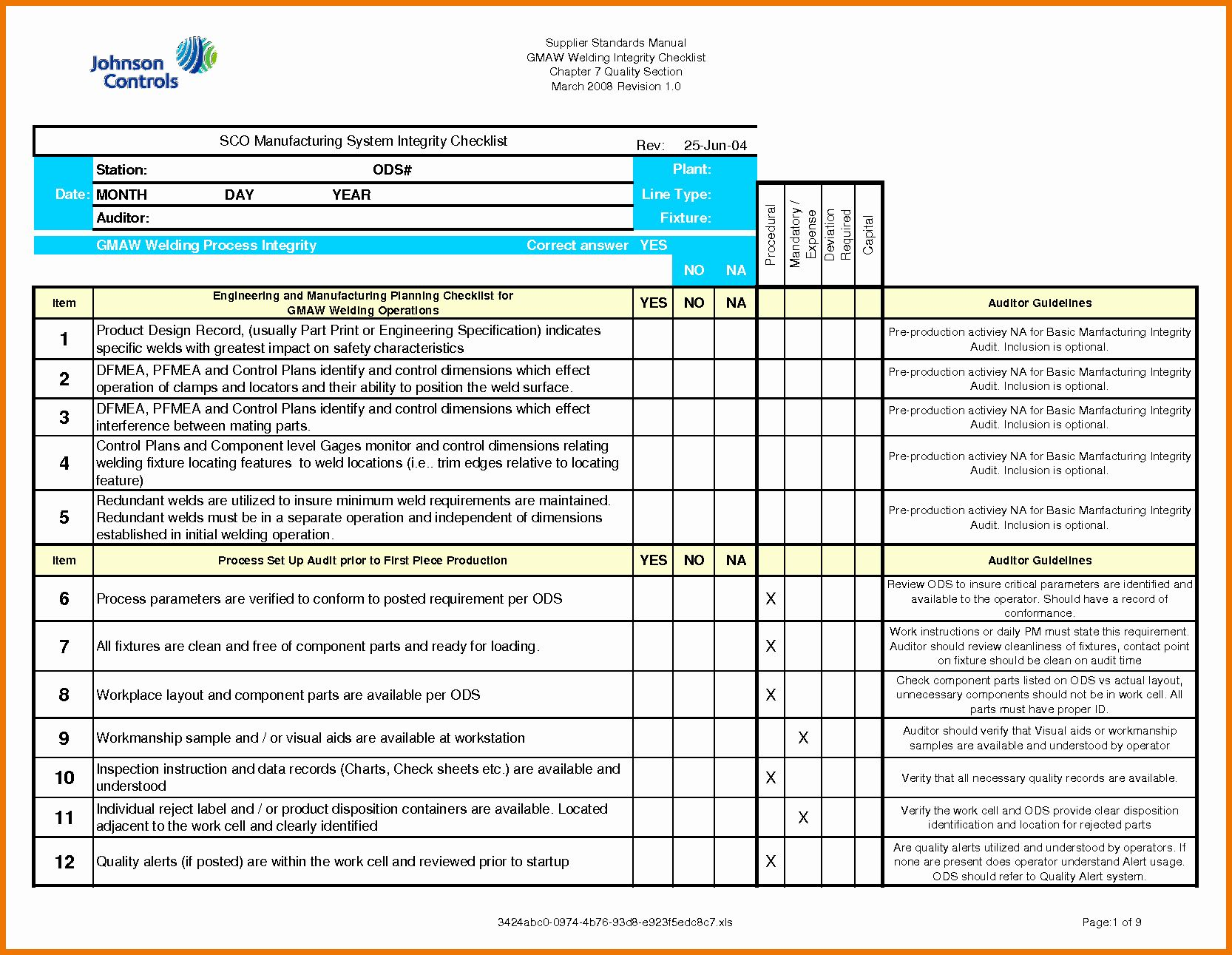 It Security Audit Checklist Template Inspirational Security Audit