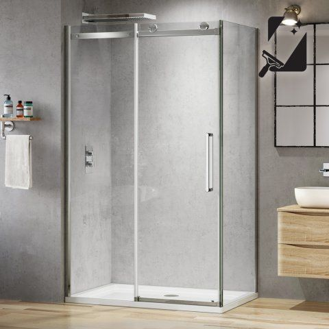 1100mmx800mm Designer Frameless Sliding Door Shower Enclosure 8mm Soak Com Sliding Shower Door Shower Doors Shower Enclosure