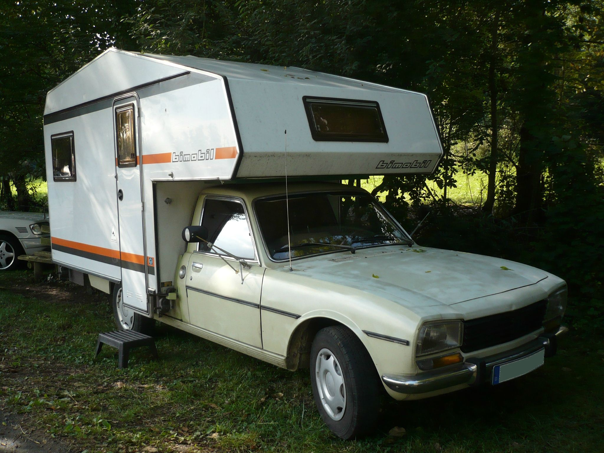 PEUGEOT 504 camping car cellule Bimobil campingcar