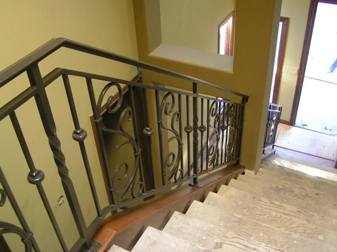Interior Stair Railing Metal Modern Interior Stair Railing Kits | Prefab Wooden Stairs Home Depot | Front Porch | Stair Case | Stair Stringer | Modular Staircase | Spiral Staircase