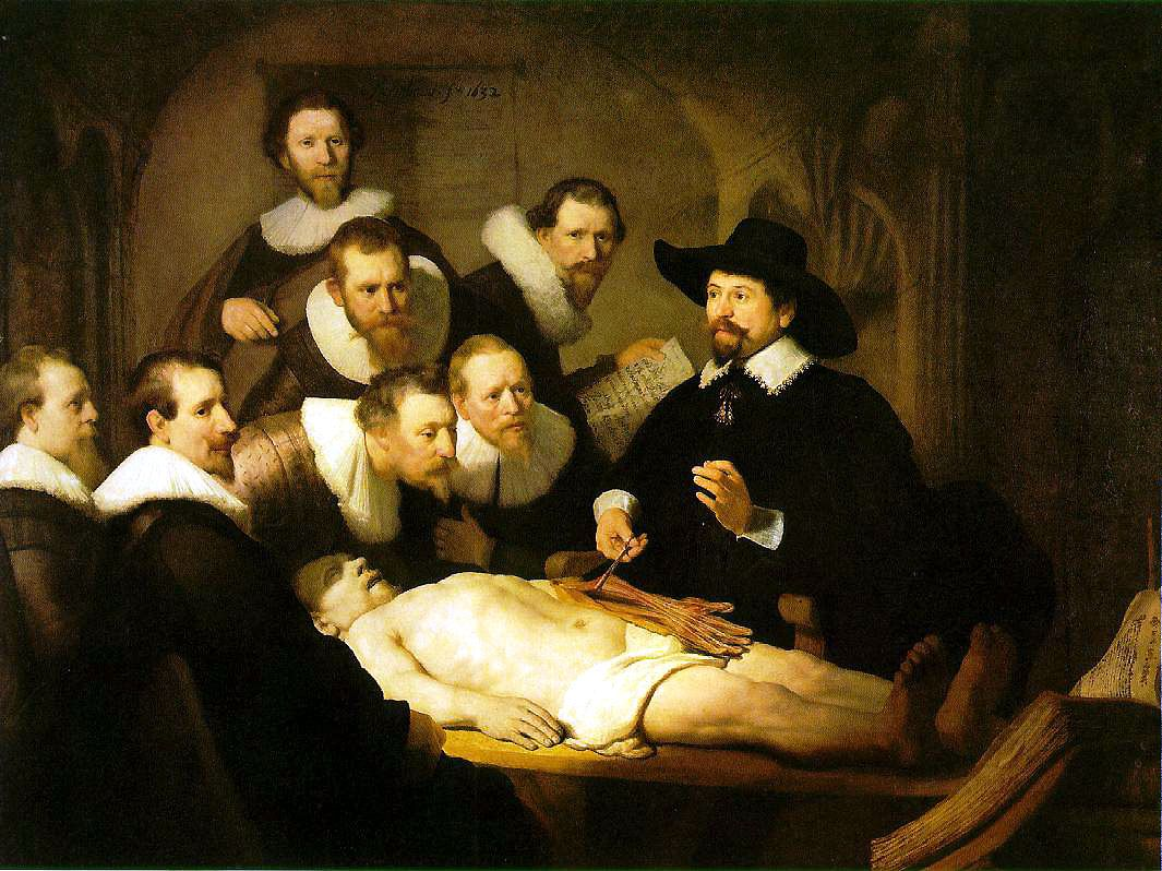 Lección De Anatomía Del Dr Nicolaes Tulp Rembrandt Rembrandt Schilderijen Schilderij