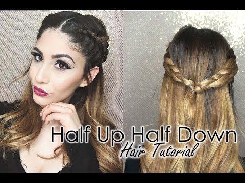 Half Up Half Down Hair Tutorial Double Dutch Braids Youtube Half French Braids Half Up Half Down Hair Tutorial Dutch Braid
