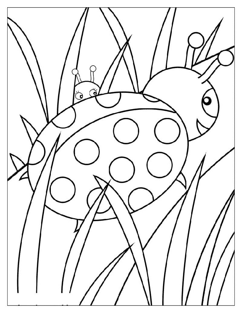 Free Ladybug Coloring Pages Printable Shelter Bug Coloring Pages Ladybug Coloring Page Coloring Pages