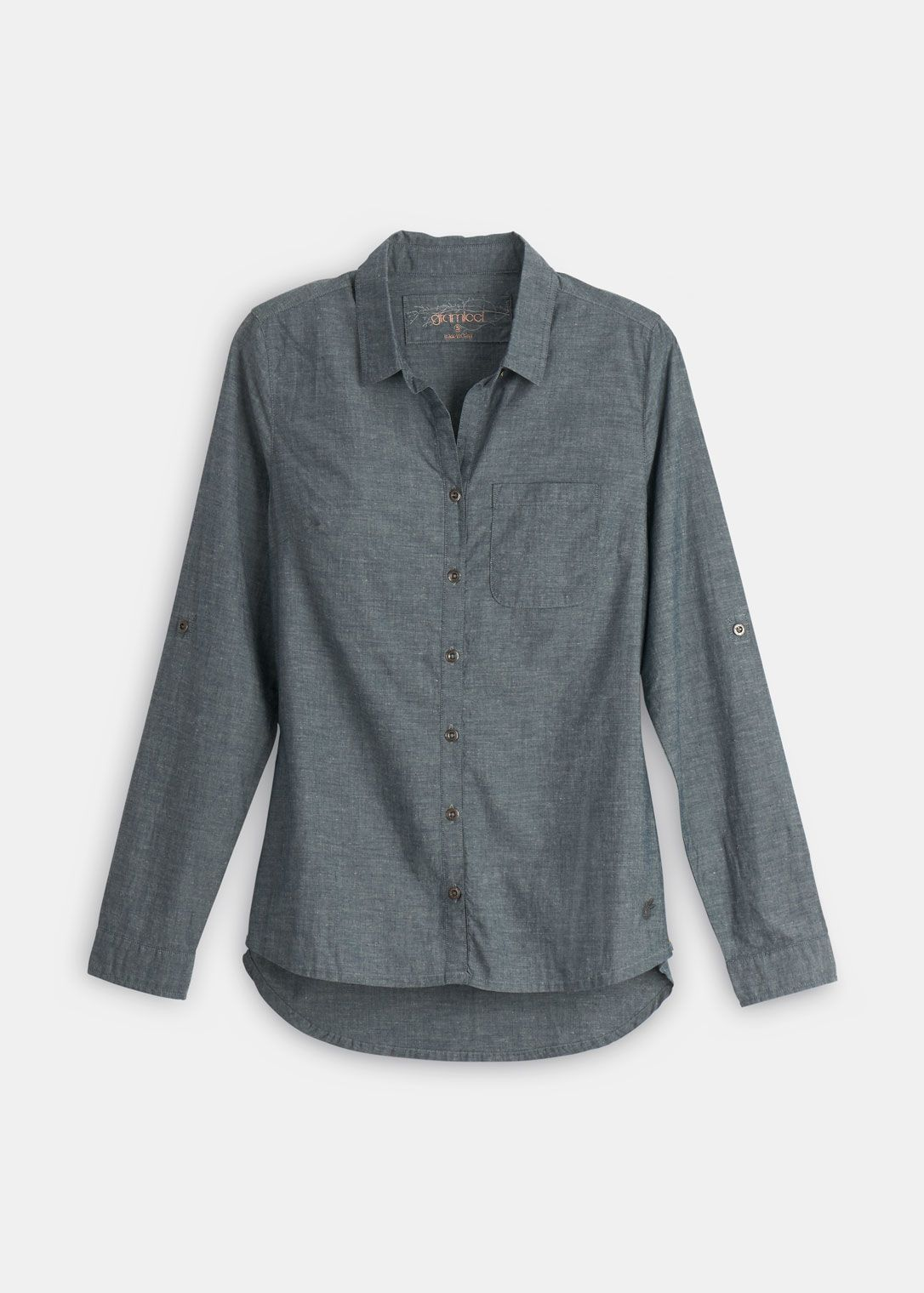 Long sleeve chambray shirt color would be good under a
