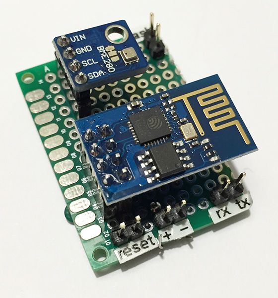 Esp8266 and bme280 board top view / #electronics
