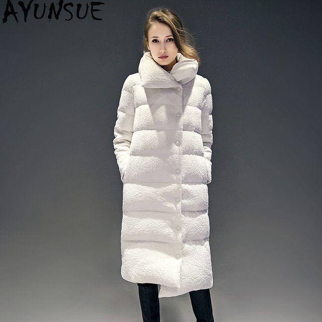 fcfb1237f AYUNSUE Long Women's Down Jacket Women Winter Duck Down Coat Korean ...