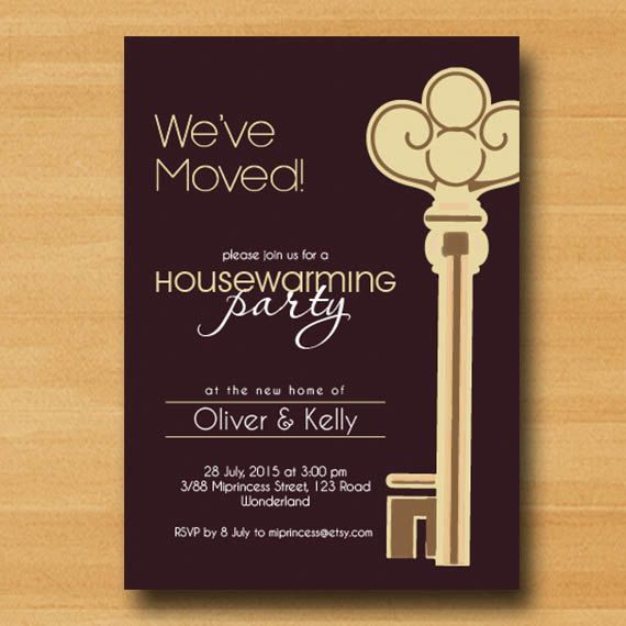 Housewarming Invitation New House Key Design By Miprincess