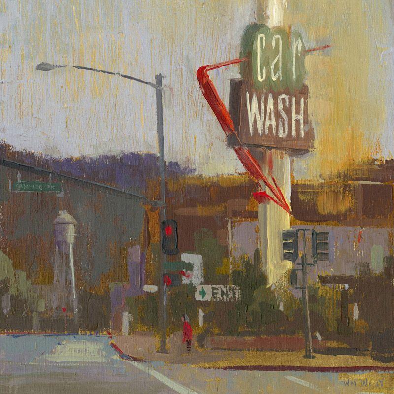 William Wray Cool paintings, Urban landscape, Landscape art