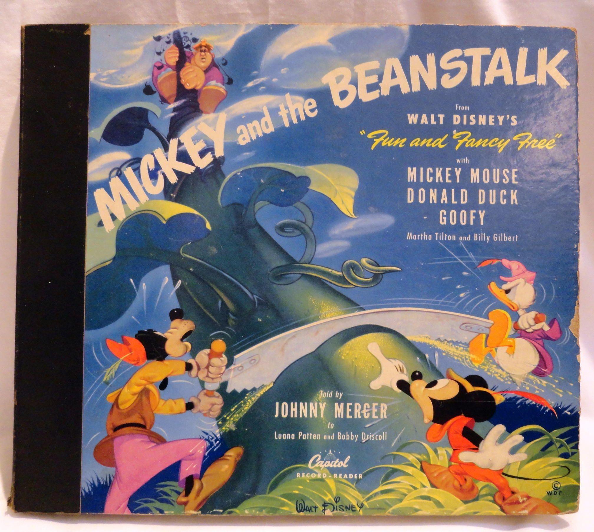 Mickey And The Beanstalk 78 Records Book Walt Disney Mickey Mouse Disney Movie Club Disney Fun
