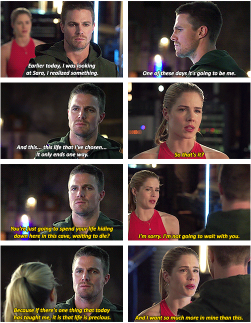 Oliver & Felicity #Arrow #Sara #Olicity This scene ruined me