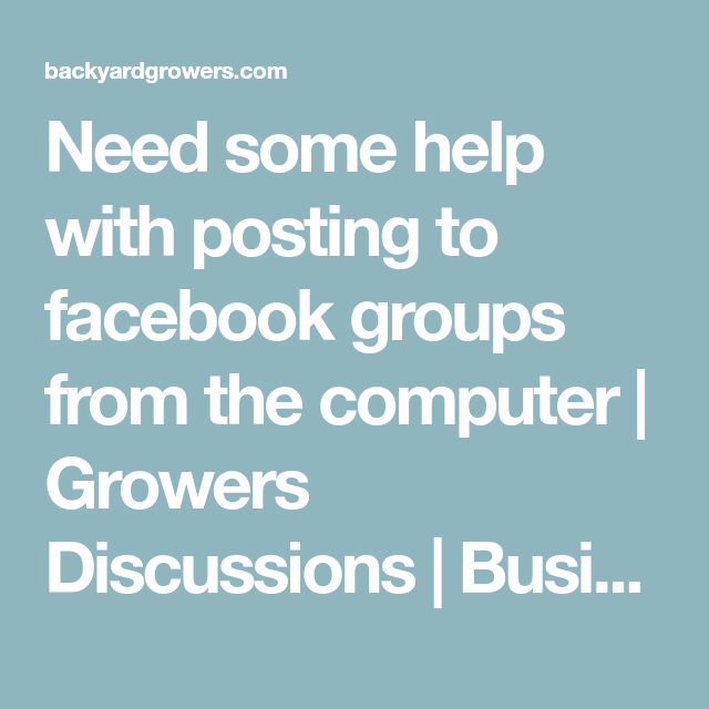 Need some help with posting to facebook groups from the ...